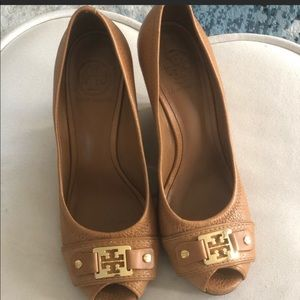 Tory Burch peep toes wedges